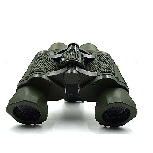 Waterproof Double Metal Cylinder Telescope 50×50 Folding Binoculars With BAK-4 Glass For Outdoor Hiking,Sightseeing,Hunting,Bird Watching.etc(Army Green)