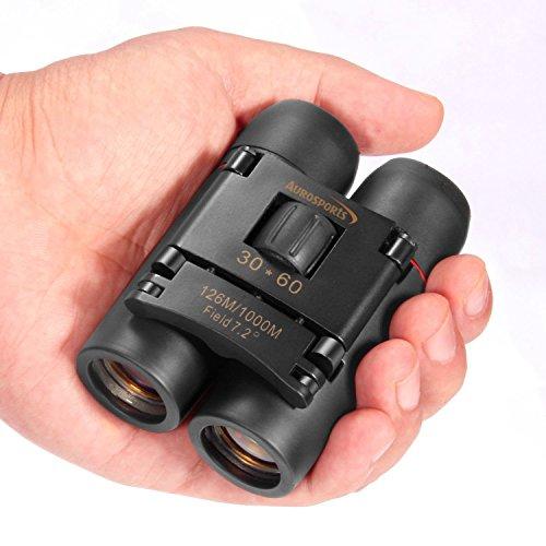 Aurosports 30×60 Folding Binoculars Telescope with Low Light Night Vision for outdoor birding, travelling, sightseeing, hunting, etc